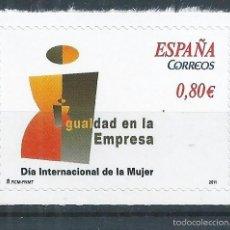 Sellos: R10/ ESPAÑA EN NUEVO** 2011, EDF. 4644, DIA INTERNACIONAL DE LA MUJER. Lote 61179987