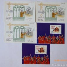 Sellos: ESPAÑA 5 HOJITAS BLOQUES 3 1986, Y 2, 2006. Lote 61273343