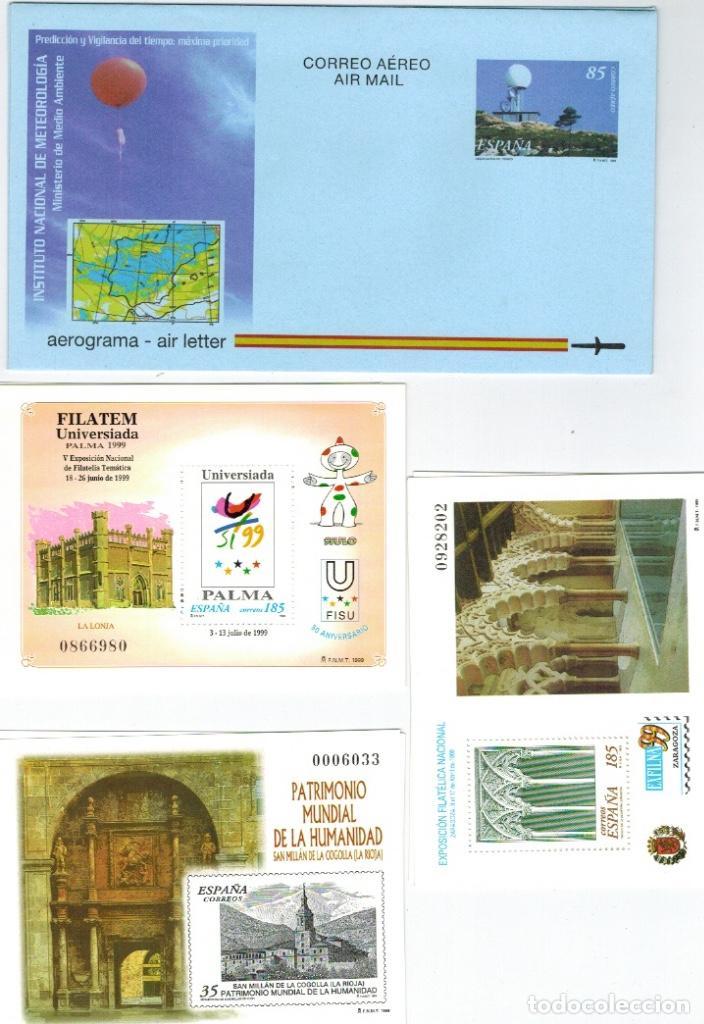 Sellos: Series completas del año 1999, dos enteros postales (sobres), tres pruebas de lujo del año 1999 - Foto 2 - 61538140