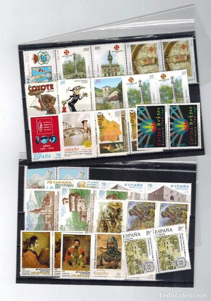 Sellos: Series completas del año 1999, dos enteros postales (sobres), tres pruebas de lujo del año 1999 - Foto 5 - 61538140