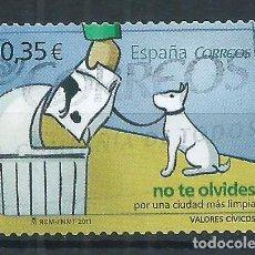 Sellos: R10/ ESPAÑA USADOS 2011, EDF. 4639, VALORES CIVICOS. Lote 61549864