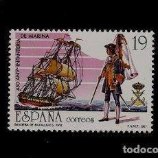 Sellos: JUAN CARLOS I - 450 ANIVERSARIO CREACION CUERPO INFANTERIA DE MARINA - EDIFIL 2885 - 1986. Lote 62529408