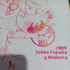 Sellos: SELLOS DE ESPAÑA Y ANDORRA 2009. Lote 62591708