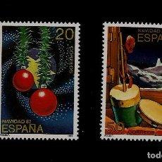Sellos: JUAN CARLOS I - NAVIDAD - EDIFIL 2925-26 - 1987. Lote 62683528