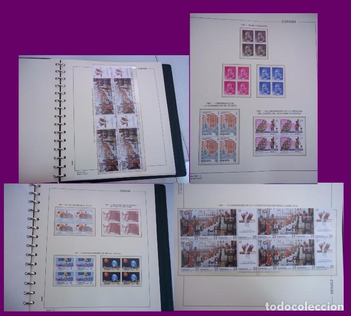Sellos: ALBUM COMPLETO SELLOS ESPAÑA BLOQUE DE CUATRO AÑO 1987 CON 4 PRUEBAS OFICIALES - Foto 2 - 63805263