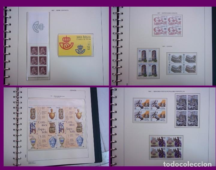 Sellos: ALBUM COMPLETO SELLOS ESPAÑA BLOQUE DE CUATRO AÑO 1987 CON 4 PRUEBAS OFICIALES - Foto 3 - 63805263