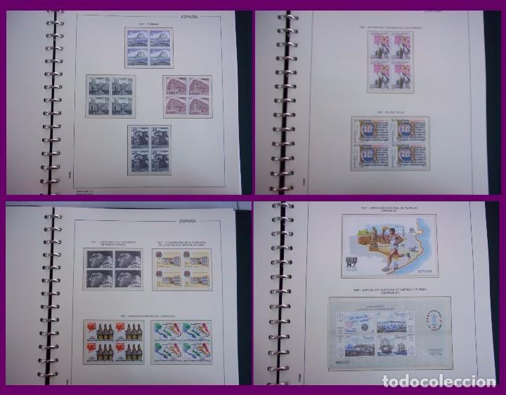 Sellos: ALBUM COMPLETO SELLOS ESPAÑA BLOQUE DE CUATRO AÑO 1987 CON 4 PRUEBAS OFICIALES - Foto 4 - 63805263
