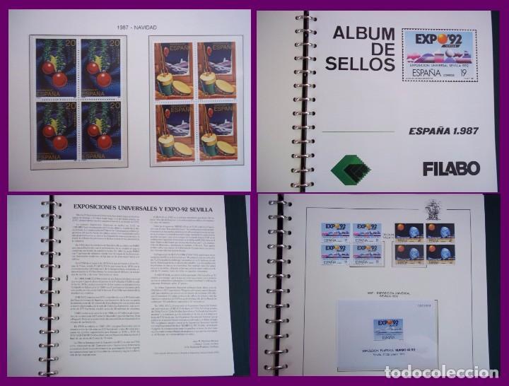 Sellos: ALBUM COMPLETO SELLOS ESPAÑA BLOQUE DE CUATRO AÑO 1987 CON 4 PRUEBAS OFICIALES - Foto 6 - 63805263