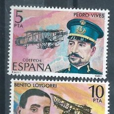 Sellos: R11.BLOCK01 / ESPAÑA NUEVOS** 1980, EDF. 2595/98, PIONEROS DE LA AVIACION. Lote 63899651