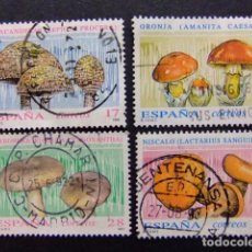 Sellos: ESPAÑA 1993 FLORA SETAS EDIFIL Nº 3244 / 47 º FU YVERT Nº 2837 / 40 º FU. Lote 64417227