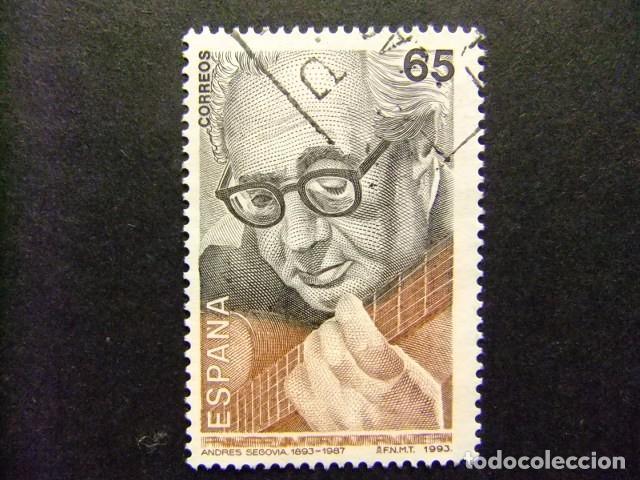 ESPAÑA 1992 ANDRES SEGOVIA EDIFIL Nº 3242 º FU YVERT Nº 2835 º FU (Sellos - España - Juan Carlos I - Desde 1.986 a 1.999 - Usados)