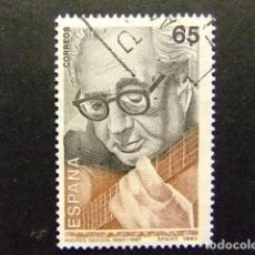 Sellos: ESPAÑA 1992 ANDRES SEGOVIA EDIFIL Nº 3242 º FU YVERT Nº 2835 º FU. Lote 64418543
