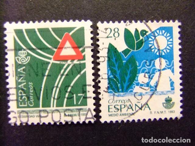 ESPAÑA 1993 SERVICIOS PUBLICOS EDIFIL Nº 3237 +3238 º FU YVERT Nº 2842 + 2832 º FU (Sellos - España - Juan Carlos I - Desde 1.986 a 1.999 - Usados)