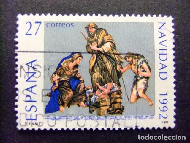 ESPAÑA 1992 NAVIDAD NOEL EDIFIL Nº 3227 º FU YVERT Nº 2823 º FU (Sellos - España - Juan Carlos I - Desde 1.986 a 1.999 - Usados)