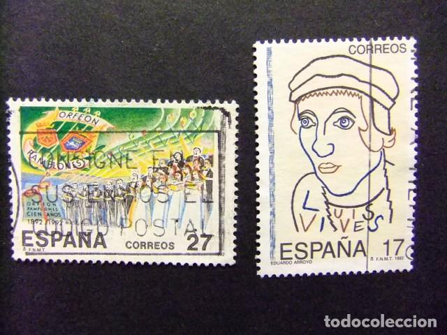ESPAÑA 1992 EFEMERIDES EDIFIL Nº 3224 / 3225 º FU YVERT Nº 2820 / 2821 º FU (Sellos - España - Juan Carlos I - Desde 1.986 a 1.999 - Usados)