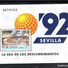 Sellos: ESPAÑA 3191** - AÑO 1992 - EXPO 92, EXPOSICION UNIVERSAL DE SEVILLA - LA ERA DE LOS DESCUBRIMIENTOS. Lote 114796872