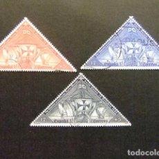 Sellos: ESPAÑA ESPAGNE 1992 V CENTENARIO DEL DESCUBRIMIENTO DE AMERICA POR COLON EDIFIL Nº 3160 /62 º FU YVE. Lote 65106699