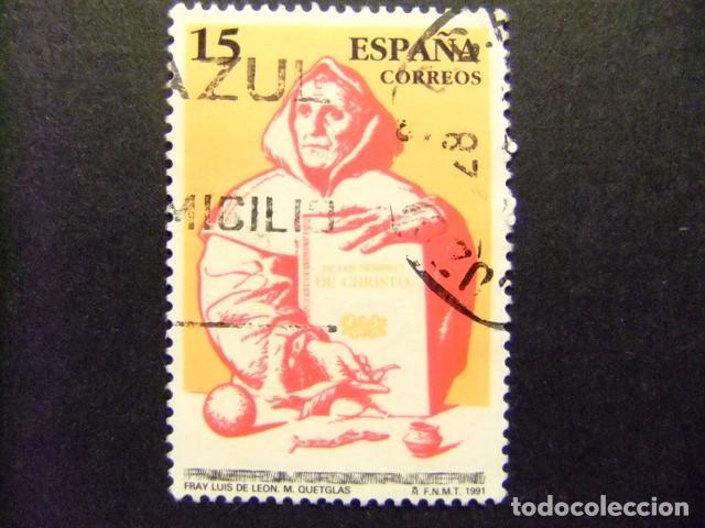 ESPAÑA ESPAGNE 1991 FRAY LUIS DE LEÓN EDIFIL 3119 FU YVERT 2723 FU (Sellos - España - Juan Carlos I - Desde 1.986 a 1.999 - Usados)