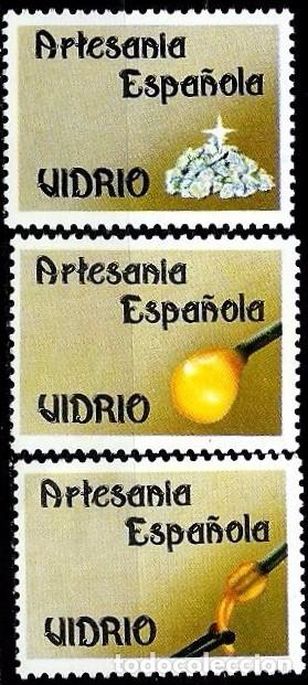 ESPAÑA 1988- EDI 2941 (3 VIÑETAS PARA ARTESANIA VIDRIO) (Sellos - España - Juan Carlos I - Desde 1.986 a 1.999 - Usados)