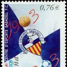 Sellos: ESPAÑA 2003 - CENTENARIO DEL SABADELL F.C. - EDIFIL Nº 3993. Lote 65726290