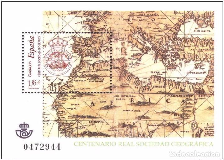 ESPAÑA 2003 - CENTENARIO DE LA REAL SOCIEDAD GEOGRAFICA - EDIFIL Nº 4021 (Sellos - España - Juan Carlos I - Desde 2.000 - Nuevos)