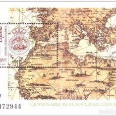 Sellos: ESPAÑA 2003 - CENTENARIO DE LA REAL SOCIEDAD GEOGRAFICA - EDIFIL Nº 4021. Lote 108083639