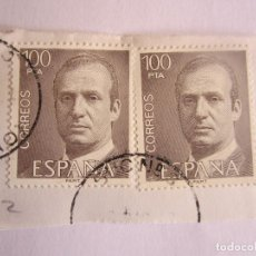 Sellos: 2 SELLOS DE ESPAÑA DE 100 PESETAS CADA UNO. REYJUAN CARLOS I. Lote 65748550
