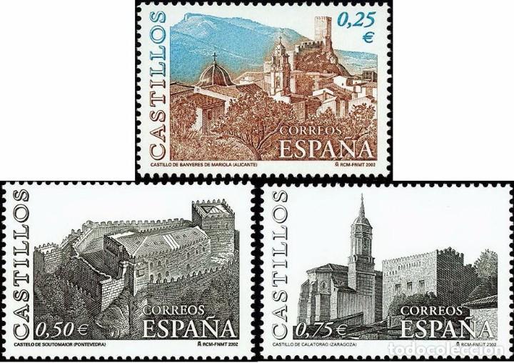 ESPAÑA 2002 - CASTILLOS - EDIFIL Nº 3889-3891** (Sellos - España - Juan Carlos I - Desde 2.000 - Nuevos)
