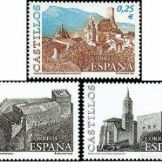 Sellos: ESPAÑA 2002 - CASTILLOS - EDIFIL Nº 3889-3891**. Lote 195377288
