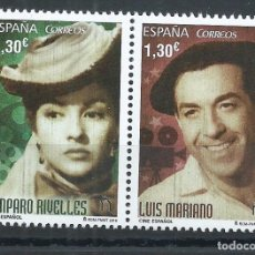 Sellos: R11/ ESPAÑA NUEVOS** 2016, CINE ESPAÑOL. AMPARO RIVELLES Y LUIS MARIANO. Lote 65857014