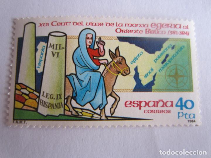 SELLO DE ESPAÑA. 40 PTS. XVI CENTENARIO VIAJE DE LA MONJA EGERIA AL ORIENTE BIBLICO (381-384) 1984 (Sellos - España - Juan Carlos I - Desde 1.975 a 1.985 - Nuevos)