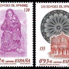 Sellos: ESPAÑA 2001 - LAS EDADES DEL HOMBRE - EDIFIL Nº 3809-3810. Lote 101751452