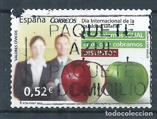 R11/ ESPAÑA USADOS 2013, EDF. 4776, VALORES CIVICOS (Sellos - España - Juan Carlos I - Desde 2.000 - Usados)