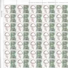 Sellos: PLIEGO 50 SELLOS DE CORREOS DE 19 PESETAS. EMISION EUROPA 1980. PERSONAJES CELEBRES.. Lote 66454142