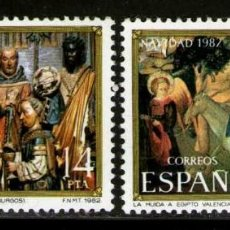 Sellos: ESPAÑA AÑO 1982 EDIFIL Nº 2681-2682*** NAVIDAD SERIE COMPLETA. Lote 66478882