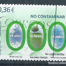 Sellos: R11/ ESPAÑA USADOS 2012, EDF. 4696, VALORES CIVICOS. Lote 66760790
