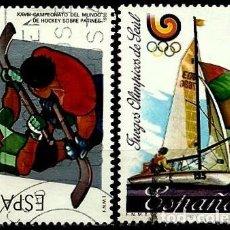 Sellos: ESPAÑA 1988- EDI 2957/58 (SERIE: DEPORTES) USADOS. Lote 120450659
