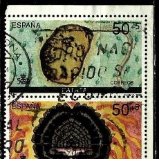 Sellos - ESPAÑA 1989- EDI 3033-34(Sellos/Carne: Par unido) usados - 66970146