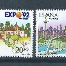 Sellos: TV_001.BLOCK_03/ ESPAÑA NUEVOS** 1990, EDF. 3050/53, EXPO´92. Lote 214967465