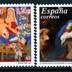 Sellos: ESPAÑA 2001 ,NAVIDAD .SERIE . **,MNH. Lote 67281369