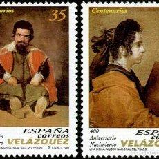 Sellos: ESPAÑA 1999 - 400 ANIVERSARIO DE DIEGO VELAZQUEZ - EDIFIL Nº 3658-3659. Lote 101376219