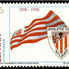 Sellos: ESPAÑA 1998 - CENTENARIO DEL ATLETICO DE BILBAO - EDIFIL Nº 3530. Lote 144027046