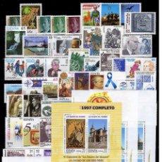 Sellos: ESPAÑA 1997 - COMPLETO - SELLOS + HOJITAS**. Lote 67676525
