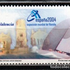 Sellos: ESPAÑA 2004.EXPOSICION MUNDIAL DE FILATELIA. VALENCIA. VIÑETA. **.,MNH. Lote 67978077