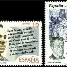 Sellos: ESPAÑA 1995 - LITERATURA ESPAÑOLA - EDIFIL Nº 3356-3357. Lote 140095300