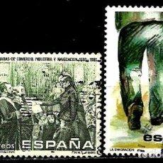 Sellos: ESPAÑA 1986- EDI 2845-46 (SERIES-Mª CRISTINA-EMIGRACION) USADAS. Lote 63778382