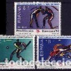 Sellos: ESPAÑA 1990 - JJOO DE BARCELONA 92 V SERIE PRE-OLIMPICA - EDIFIL Nº 3076-3078. Lote 120336564