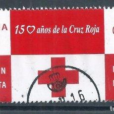 Sellos: R11/ ESPAÑA USADOS 2013, 100 AÑOS CRUZ ROJA. Lote 68712869
