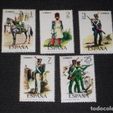 Sellos: USADO - EDIFIL 2350/2354 - SPAIN 1976 UNIFORMES MILITARES /M. Lote 68784941