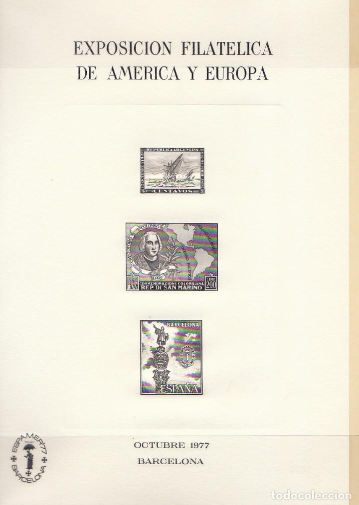 Sellos: ESPAMER-77. ÁLBUM .TIRADA 1000 u. (807) - Foto 4 - 68897437